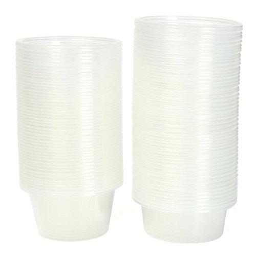 50Pcs Disposable Clear Plastic Cups With Lids 20 oz
