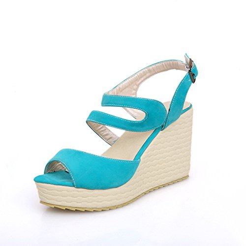 Buckle Sandals Heels High Women's Toe Solid Green Frosted WeenFashion Open 5wBOax