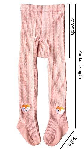 QandSweet Toddler Girls Tights Knit Cotton Pantyhose Dance Leggings Pants Stockings Animal Head 1-2T by QandSweet (Image #4)