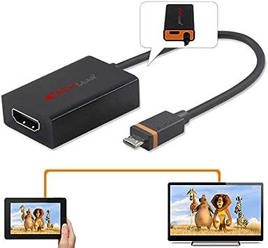 Techgear adaptador de SlimPort a HDMI – Micro USB macho a conector HDMI hembra – para todo tipo