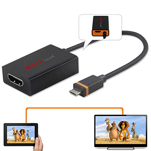 TECHGEAR HDMI Adapter for 2014 Release/4th Generation Amazon Fire Tablets -  Micro USB male to HDMI female Connector for New Amazon Fire HD 7, Fire HD