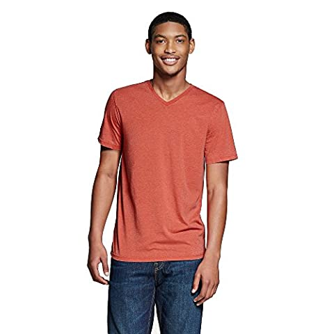 Mossimo Supply Co Men's Crewneck T-Shirt (XX-Large, Red Burnout) (Mossimo Supply Co For Men)