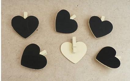 Bridal - Pizarras decorativas con forma de corazón (con ...