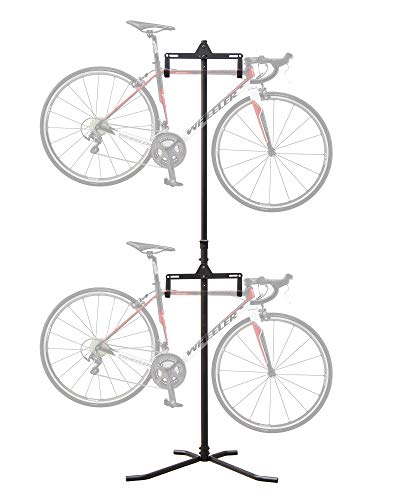 2 Bike Floor Stand - CyclingDeal 2 Bike Bicycle Vertical Hanger Parking Rack Storage Stand for Garages or Apartments
