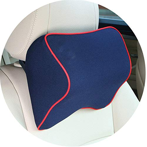 Car Pillow Summer Space Memory Fabric Neck Comfortable Headrest Vehienlar Plaid Seat ()