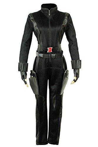 Nuoqi Womens Sexy Movie Character Black Cosplay Costume XL Size (Black Widow Avengers Costume Fabric)