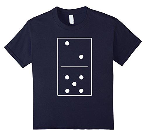 Pair Of Dice Costume (Kids Unisex Domino Costume Alternative T-Shirt Tee 12 Navy)