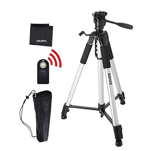 UltraPro 72″ Inch Heavy Duty Aluminum Camera Tripod + Wireless Remote Bundle for Canon Digital Cameras, Includes UltraPro Bonus Microfiber Cleaning Cloth