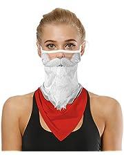 UN UNITEDTIME Face Bandana Neck Gaiter with Ear Loops, UV Sun Protection Reusable Triangle Mask Scarf Cycle