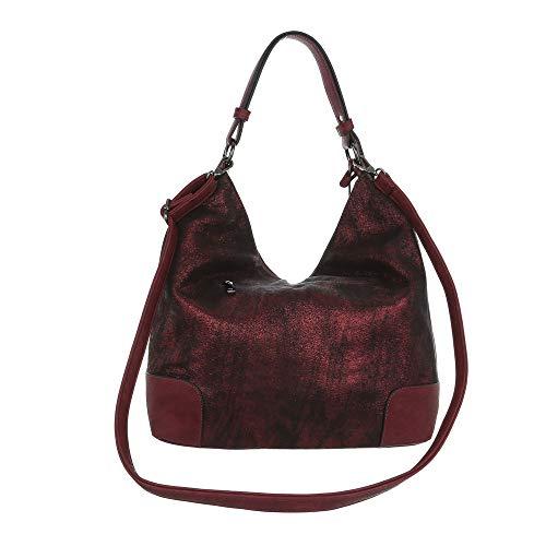 Femme Rouge design Ital À Bordeaux Pour L'épaule Porter Sac FSPFxHWUnt