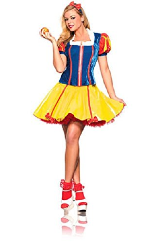 Be Wicked Sexy Miss Snow White Fairytale Costume Blue/Red/Yellow Small/Medium - Sexy Fairy Tale Snow White Costumes