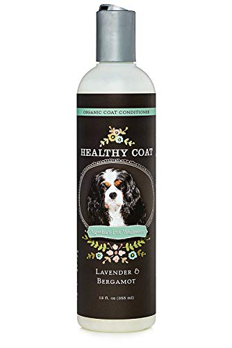 Agatha's Luxury Organic Lavender & Bergamot Dog Conditioner & Detangler - Nourishing & Soothing, for Healthy & Easy to Brush Coats ● Hypoallergenic, Sulphate Free ● 12oz -