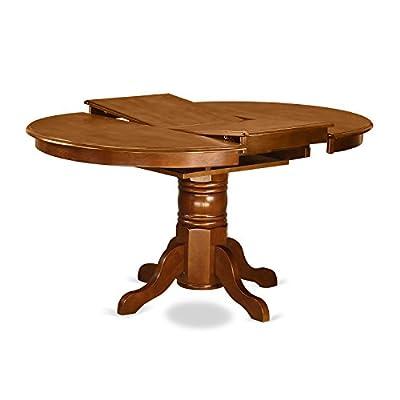 East West Furniture AVNA7-SBR-C 7-Piece Dining Table Set