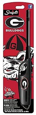 NCAA Georgia Bulldogs Licensed Scripto Multipurpose Utility Lighter - Official Black & Red - Tailgating Essential