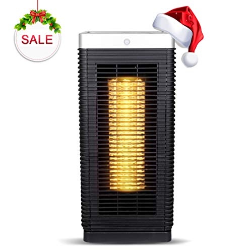 - Portable Ceramic Space Heater with PIR Motion Sensor & Dual-Engine, 1500W Oscillating Electric Tower Heater with Tip-Over Safety Protection and Over-Heat Protection, 7-Hour Programmable Timer