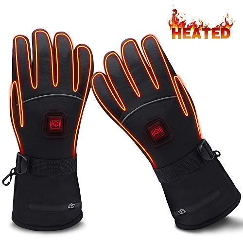 GLOBAL VASION Battery Heated Gloves,Heated Gloves,Rechargeable Heated Gloves,Electric Gloves,Heated Gloves for Men,Heated Gloves for Women by GLOBAL VASION