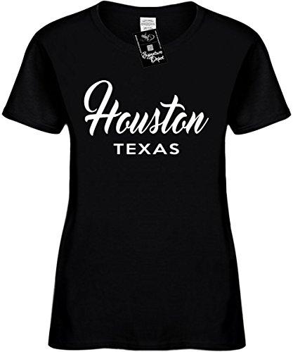 Signature Depot Women's Size XL Funny T-Shirt (Houston Texas (City State) Ladies Shirt