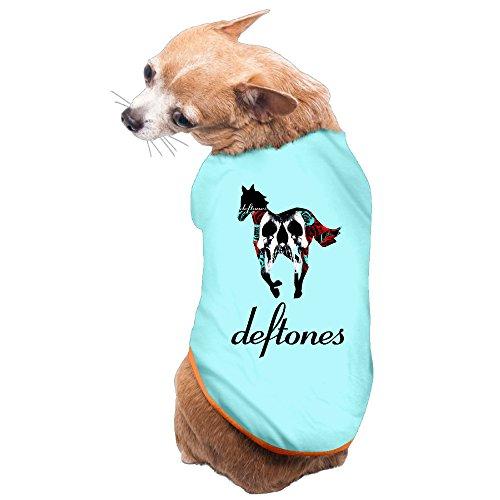 LFISH3 Deftones Skull Horse Fashion Vest Pet Clothing M (Death Promo Poster)