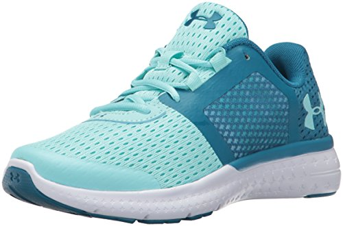 Under Armour Girls' Grade School Micro G Fuel RN, Bayou Blue/Blue Infinity/White, 4.5 M US Big Kid