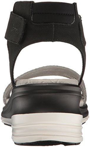Santorini Sandal Black Jambu Wedge Women's vqS5Z5