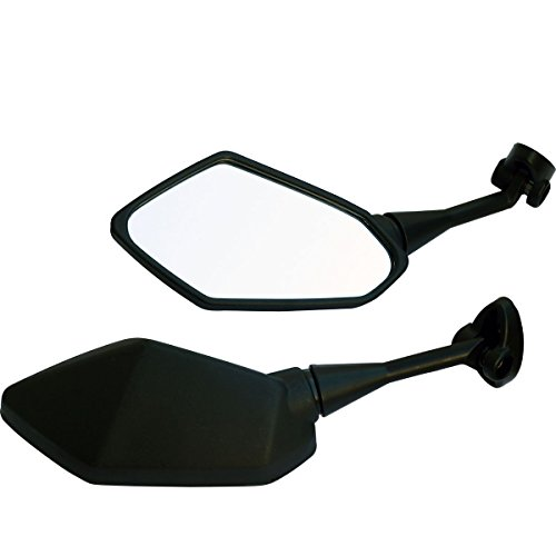 One Pair Black Sport Bike Mirrors for 1997 Kawasaki Ninja 500R EX500D