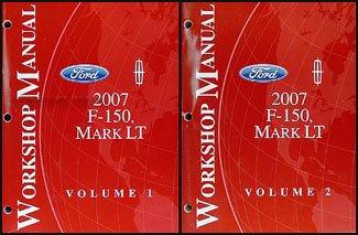 2007 Ford F-150 & Lincoln Mark LT Repair Shop Manual 2 Volume Set Original