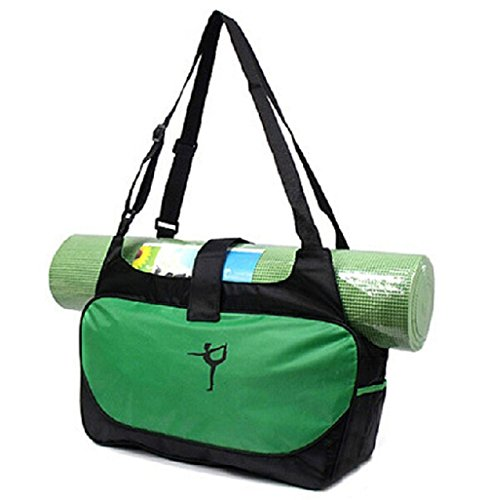 Eagle One Deals Yoga Mat Gym Bag Lightweight, Durable, Heavy Duty, Water Resistant, Polyester/Nylon (Green)