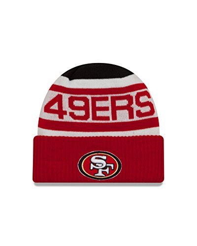 NFL San Francisco 49ers Biggest Fan 2.0 Cuff Knit Beanie, One Size, Red