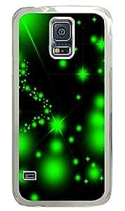 Samsung Galaxy S5 Green Starry PC Custom Samsung Galaxy S5 Case Cover Transparent