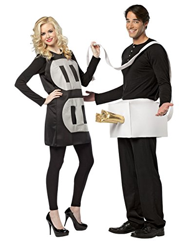 Shocking Electric Plug & Socket Couples Halloween Party Costume Set One Size