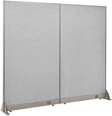GOF Freestanding Office Partition, Large Fabric Room Divider Panel, 72 W x 72 H