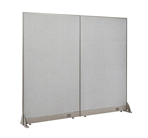 (GOF Freestanding Office Partition, Large Fabric Room Divider Panel, 72