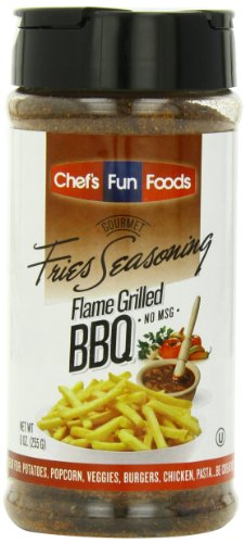 Gourmet Fries Seasonings Bottle, Flame Grilled BBQ, 9 Ounce ()