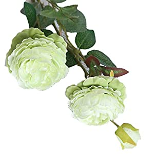 Zerama 3 Heads/Branch Artificial Peony Flower Fake Leaf Cloth Wedding Bouquet Flowers Party Garden DIY Decoration 11