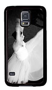Diy Fashion Case for Samsung Galaxy S5,Black Plastic Case Shell for Samsung Galaxy S5 i9600 with Ballet-Dancer