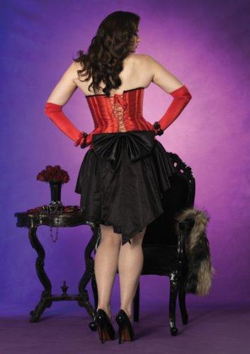 Leg avenue-plus size gants en satin pour femme rouge taille extra longue