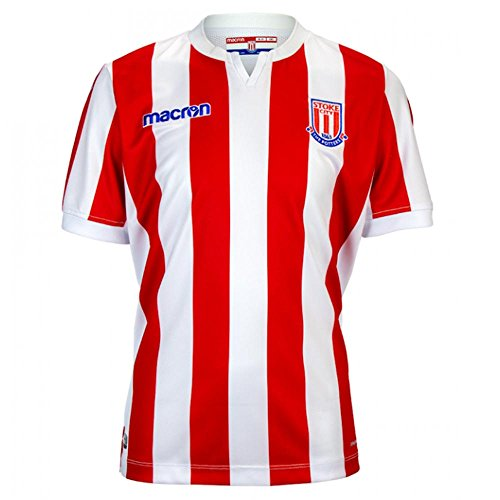 Macron 2018-2019 Stoke City Home Football Soccer T-Shirt Jersey ()