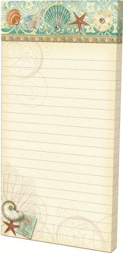 Punch Studio Seashell Embellished Magnetic List Pad with Jewels