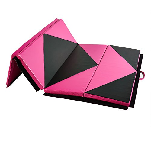 Doitpower 3 Fold Thick Gymnastic Mat with Handles and Zipper Home Exercise Equipment Gymnastic Equipment