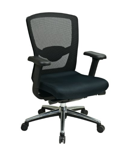 High-Back Ergonomic ProGrid Mesh-Back Office Chair Finish: B