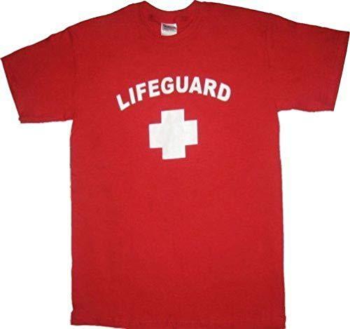 Lifeguard Life Guard Funny Costume T-Shirt Red ()