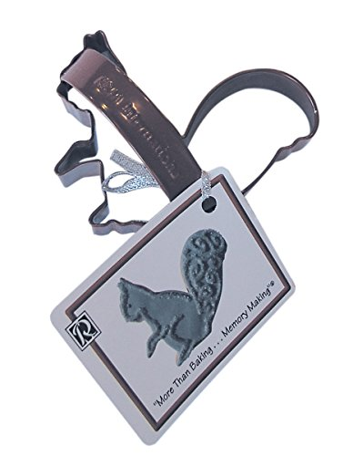 CybrTrayd RM-0622/Z-6LOT R&M Squirrel 3.75 inch Cookie Cutter with Handle and Recipe Tag (Set of 6), Brown