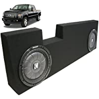 ASC Package Ford 250 350 Super Crew 04-13 Truck Dual 12 Kicker CVT12 Subwoofer Sub Box Enclosure 1600 Watts Peak