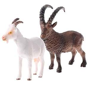 Amazon.com: CUTICATE Figura de cabra realista – Huevos de ...