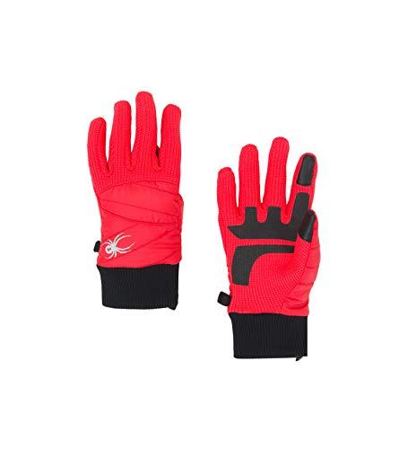 (Spyder Women's Bandita Stryke Hybrid Glove, Hibiscus/Hibiscus/Black, Small)