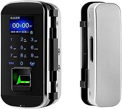 Huella digital y pantalla táctil inteligente sin l Contraseña abrelatas de la cerradura digital inteligente de la huella digital cerradura de puerta electrónica eléctrico RFID biométrico de seguridad