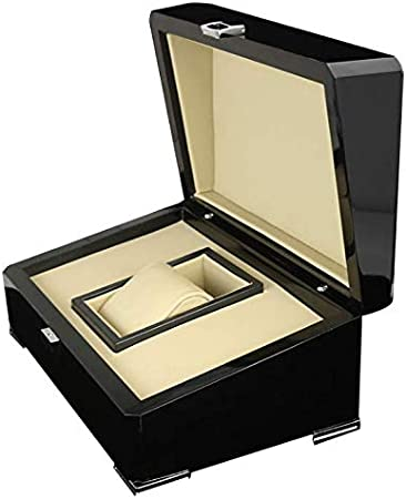 ROUHO Joye Box Caja De Regalo Reloj Caja Pintada Caja De Madera PU Caja De Cuero Cuadrado Flip Caja De Madera: Amazon.es: Hogar