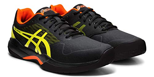 - ASICS Gel-Game 7 Men's Tennis Shoe, Black/Sour Yuzu, 10 M US