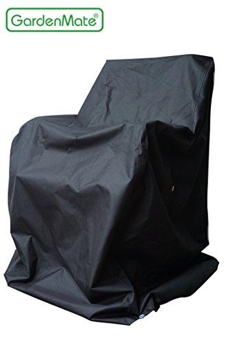 GardenMate® OXFORD Polyester Schutzhülle für Gartenstühle 65 x 65 x 80/120 cm - Premium Qualität aus hochwertigem 220GSM Oxford Polyester Material - Anthrazit