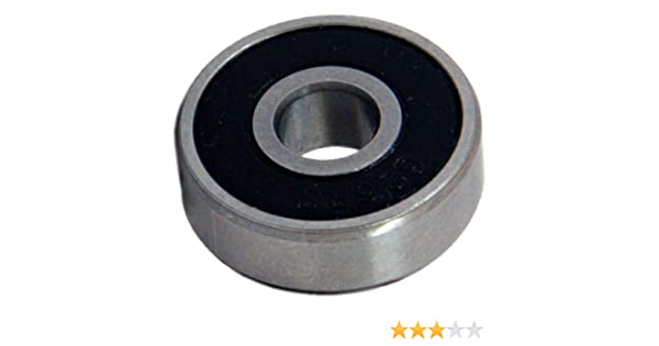 Rubber Double Sealed Ball Bearing 606RS 6x17x6 mm 606-2RS 10 Pcs BLACK